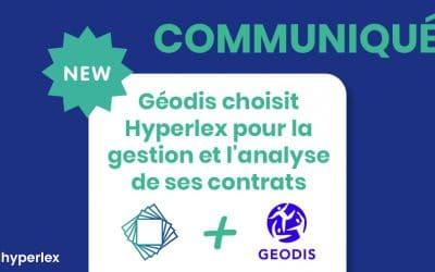 [COMMUNIQUÉ] Géodis choisit Hyperlex pour la gestion et l'analyse de ses contrats