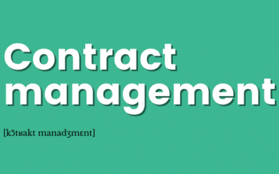 [Définition] Contract management