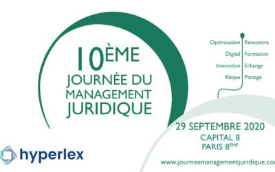 [REPORTÉ] Venez rencontrer Hyperlex lors la 10e Journée du Management Juridique