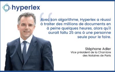 Projet VIDOC : l'IA d'Hyperlex traite plus de 4 millions de documents fonciers en 20h pour la Chambre des Notaires de Paris