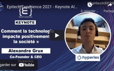 Alexandre Grux, CEO d'Hyperlex, présent à Epitech Experience 2021