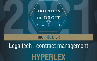 Hyperlex couronnée Meilleure Legaltech pour la 2e année consécutive !