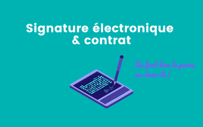 Peut-on utiliser la signature électronique pour un contrat ?